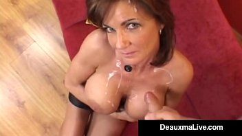 Lewd housewife deauxma receives pounded anally acquires cummed on