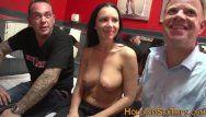 Breasty prostitute pumped