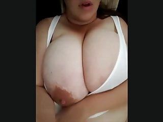 A bbw dominant-bitch flashing her hot milk cans