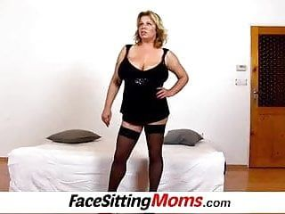 Large natural billibongs mommy silvy vee face sitting