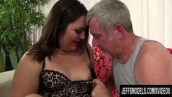 Fortunate old guy drills juvenile and cute latin chick plumper gia star