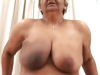 Large boob oma riding