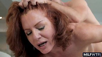 Older woman with a curly cum-hole and red hair